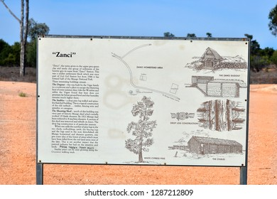 MILDURA, NSW, AUSTRALIA - NOVEMBER 09: Description for former Zanci homestead in Mungo national park, on November 09, 2017 in Mildura, Australia