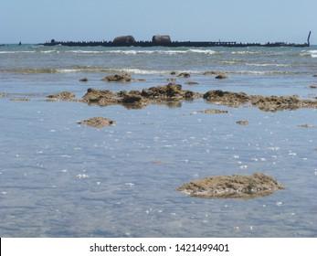 Mildura ship Wreck in sea, close to Exmouth, Australia, Western Australia, Outback