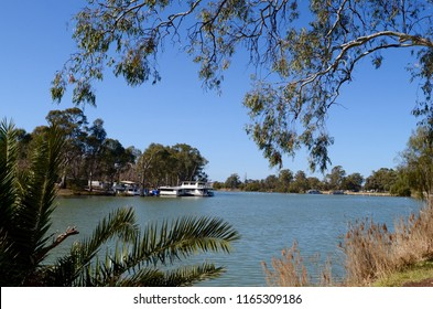 Mildura, Victoria, Australia. August 2018.  A view of the Murray River at Mildura.