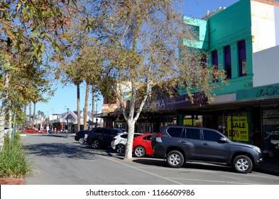 Mildura, Victoria, Australia. August 2018. A view of Langtree Ave in the Victorian town of Mildura.