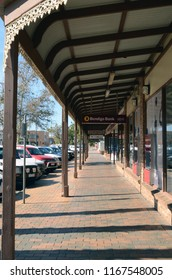 Mildura, Victoria, Australia. August 2018. A street scene in the Victorian town of Mildura.