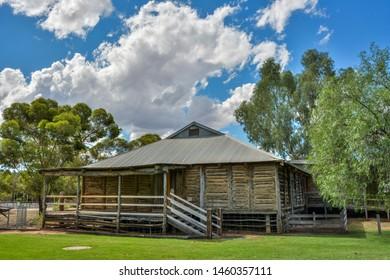 Mildura, Victoria, Australia - March 12, 2017. Old Mildura Station Homestead in Mildura, VIC. This  was the first home of William B Chaffey, one of the founders of Mildura.
