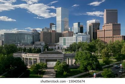 The Mile High City - Denver Colorado Skyline