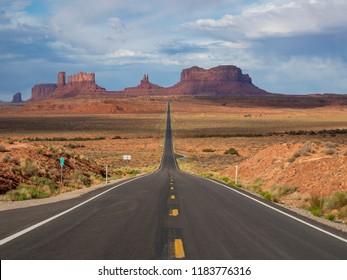 Mile Marker 13, where Forrest Gump stopped running in Monument Valley, Navajo Nation, Utah
