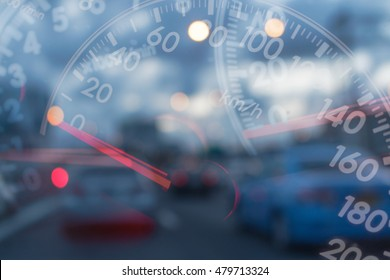 Mileage Cars on traffic blur background