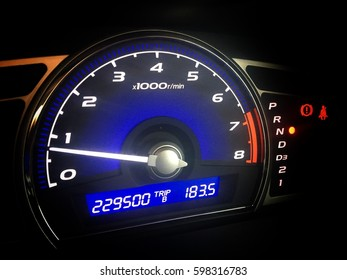 Mileage speed display of the car