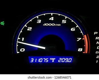 Mileage speed panel