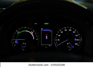 Mileage,Closeup dashboard of mileage car.