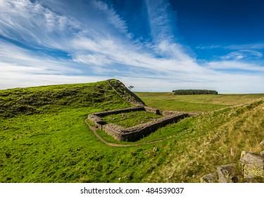 Milecastle 39 on Hadrian's Wall, County of Northumberland, England