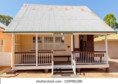 MILES, QUEENSLAND, AUSTRALIA - January 25th 2019: Miles Historical Village And Museum state school building