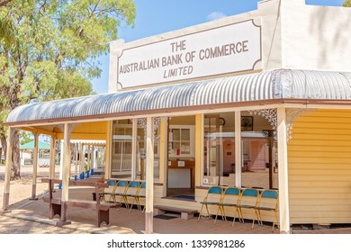 MILES, QUEENSLAND, AUSTRALIA - January 25th 2019: Miles Historical Village And Museum bank commerce building