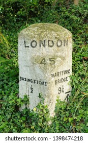 Milestone, 45 miles from London, 1/2 mile from Basingstoke and 9.25 from Hartfordbridge