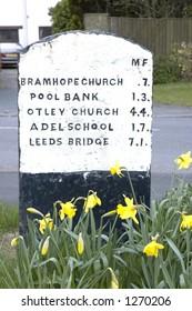 Milestone, Bramhope, near Leeds, West Yorkshire, UK