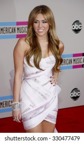 Miley Cyrus at the 2010 American Music Awards held at Nokia Theatre L.A. Live in Los Angeles, USA on November 21, 2010.