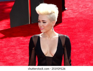Miley Cyrus at the 2012 MTV Video Music Awards held at the Staples Center in Los Angeles, United States on September 6, 2012.