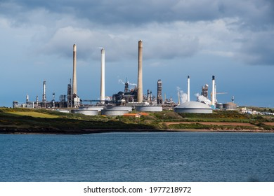 Milford Haven Oil refinery in Wales