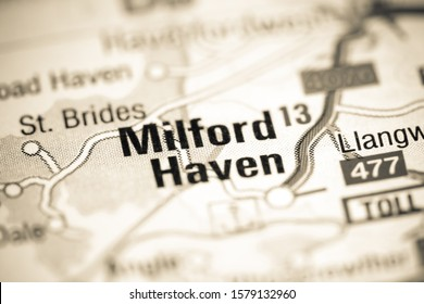 Milford Haven. United Kingdom on a map