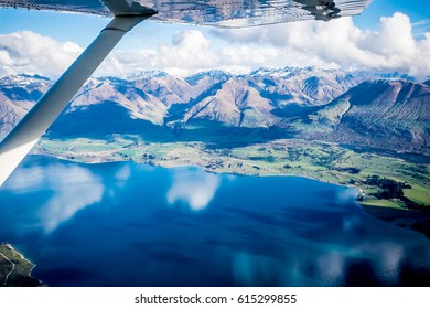 Milford Sound Aerial Mountain Scenic Landscape