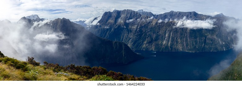 Milford Sound from Mitre Peak Panorama