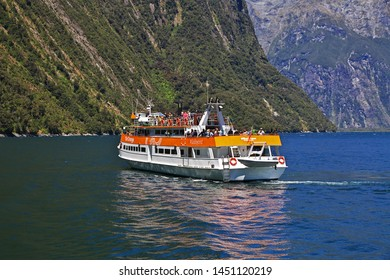 Milford Sound / New Zealand - 24 Dec 2018: Milford Sound Fjord, New Zealand