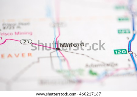 Milford Utah Map.Milford Utah Usa Stock Photo Edit Now 460217167 Shutterstock