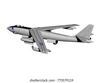 Military aircraft 3D rendering