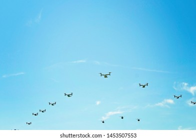 military aircraft flyover during homecoming