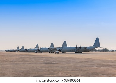 Military aircraft on the runway.