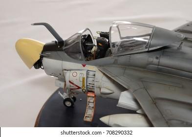 Military Airplane Plastic Cockpit Model Kit Detail