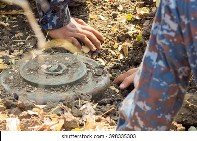 Military Anti-tank mines removal
