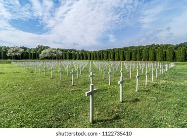 Military cemetery in Vukovar, Croatia