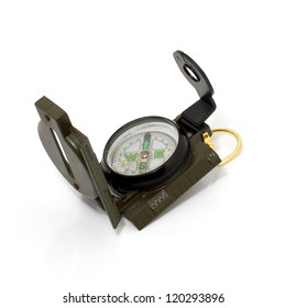Military Compass Isolated on white background