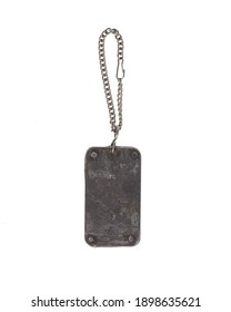 military dog tag isolated on white background