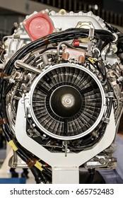 Military fighter Jet engine inside
