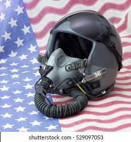 Military fighter pilot helmet
