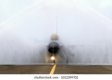 Military Fighter plane rinse