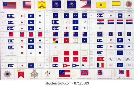 Military flags of  North & South from Atlas to Accompany the Official Records of the Union & Confederate Armies, 1861 - 1865