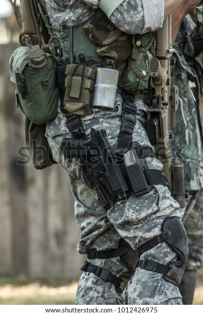 Military Gears Equipments Stock Photo (Edit Now) 1012426975