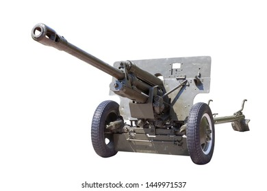 military gun, heavy weapon isolated on white background