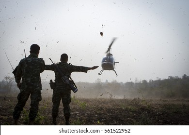 military helicopters.