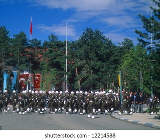 Military honor guard at Turkish Independence day celebrations,Erzerum,Turkey, Middle East