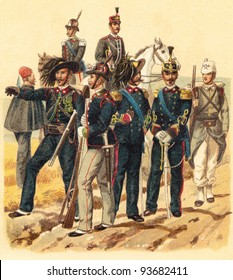 Military Italy - Vintage illustration / illustration from Meyers Konversations-Lexikon 1897