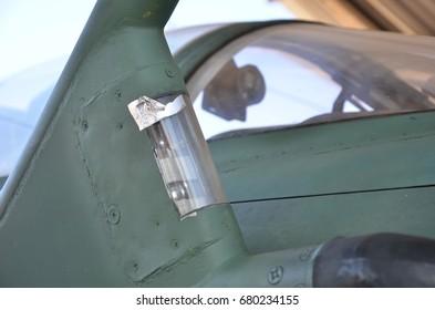 Military jet detail