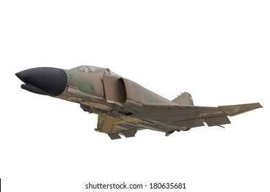 A military jet isolated over a white background