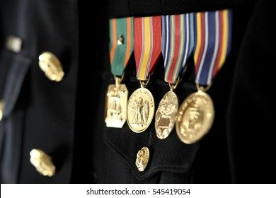 Military medals on uniform USMC Marines
