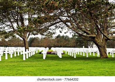 military memorial and cemetery in normandy France