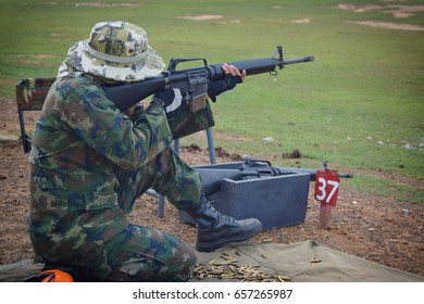 Military men with submachine gun,soldiers with machine guns