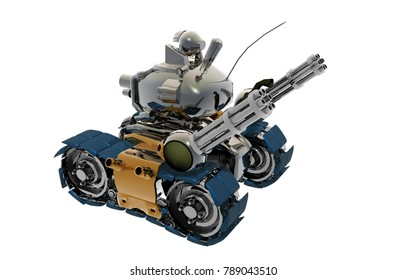 Military Robot 3D rendering