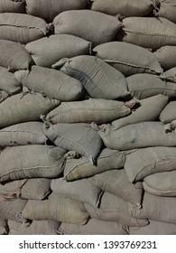 Military Sandbag bunker army base pattern