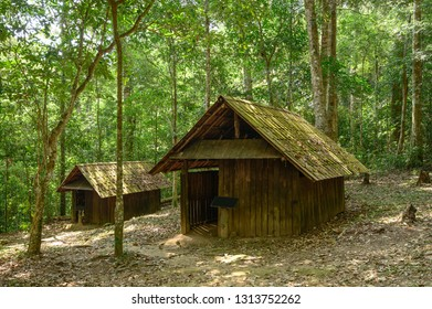 Military School Hut Village in Phu Hin Rong Kla National Park, Phitsanulok, Thailand.